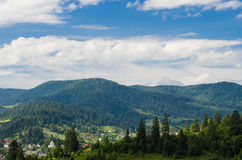 The Carpathian Mountains 40. The Carpathian Mountain landscape view in the Ukrainian part of mountains Royalty Free Stock Photos