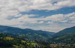 The Carpathian Mountains 38. The Carpathian Mountain landscape view in the Ukrainian part of mountains Royalty Free Stock Image