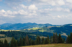 The Carpathian Mountains 36. The Carpathian Mountain landscape view in the Ukrainian part of mountains Stock Images
