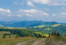 The Carpathian Mountains 34. The Carpathian Mountain landscape view in the Ukrainian part of mountains Stock Image