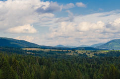 The Carpathian Mountains 33. The Carpathian Mountain landscape view in the Ukrainian part of mountains Stock Images