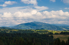 The Carpathian Mountains 29. The Carpathian Mountain landscape view in the Ukrainian part of mountains Royalty Free Stock Photo