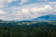 The Carpathian Mountains 23. The Carpathian Mountain landscape view in the Ukrainian part of mountains Royalty Free Stock Photos