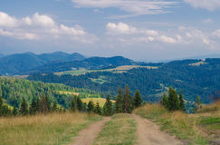 The Carpathian Mountains 3. The Carpathian Mountain landscape view in the Ukrainian part of mountains Stock Image