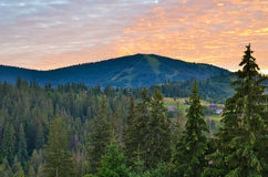 The Carpathian Mountains 6. The Carpathian Mountain landscape view in the Ukrainian part of mountains Stock Photos