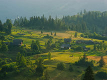 The Carpathian Mountains 8. The Carpathian Mountain landscape view in the Ukrainian part of mountains Royalty Free Stock Photography