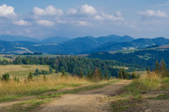 The Carpathian Mountains 9. The Carpathian Mountain landscape view in the Ukrainian part of mountains Royalty Free Stock Photo