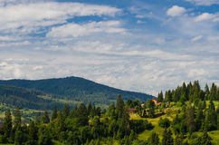 The Carpathian Mountains 10. The Carpathian Mountain landscape view in the Ukrainian part of mountains Stock Photo
