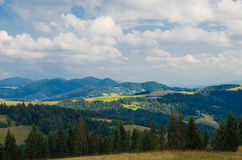 The Carpathian Mountains 11. The Carpathian Mountain landscape view in the Ukrainian part of mountains Royalty Free Stock Image