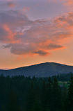 The Carpathian Mountains 16. The Carpathian Mountain landscape view in the Ukrainian part of mountains Stock Image