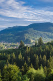 The Carpathian Mountains 19. The Carpathian Mountain landscape view in the Ukrainian part of mountains Stock Photo