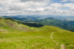 Carpathian Mountains next to Dragobrat, Ukraine Stock Images