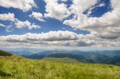 Carpathian Mountains next to Dragobrat, Ukraine. Summer Stock Image