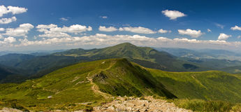 Carpathian Mountains panorama in high resolution Royalty Free Stock Photography