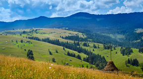 Carpathian mountains panorama Royalty Free Stock Photography