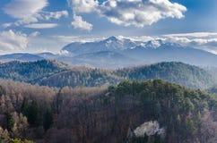 Carpathian Mountains panorama Stock Photography