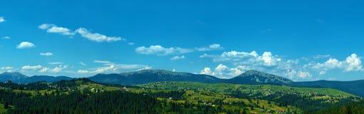 Carpathian mountains panorama in Ukraine Royalty Free Stock Photography