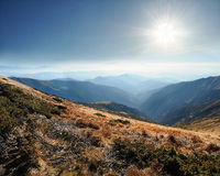 Carpathian mountains ranges Stock Photos