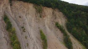 Carpathian mountains and ridge stock video footage