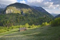 Carpathian Mountains, Romania. Rural landscape with Magura village in Piatra Craiului National Park, Royalty Free Stock Photos