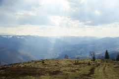 Carpathian Mountains Sibiu county Romania Stock Photography