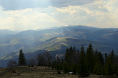 Carpathian Mountains Sibiu county Romania Royalty Free Stock Photos