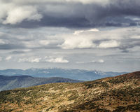 Carpathian Mountains before the storm Royalty Free Stock Photo