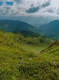 Carpathian mountains in the sunlight royalty free stock images