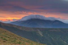 Carpathian Mountains at sunrise Stock Photography