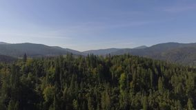 Carpathian Mountains in Ukraine 2018. Video made by drone of Carpathian Mountains and forest, Ukraine 2018. The Carpathian Mountains form a 1,500km-long range in stock video