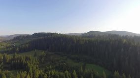 Carpathian Mountains in Ukraine 2018. Video made by drone of Carpathian Mountains and forest, Ukraine 2018. The Carpathian Mountains form a 1,500km-long range in stock video footage