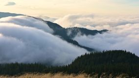 Carpathian mountains video time lapse  footage in Romania stock footage