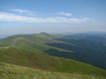 Carpathian mountains, the West of Ukraine. Carpathian mountains natural colors, ridge Borzhava Royalty Free Stock Image