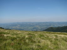 Carpathian mountains in the West Ukraine. Carpathian mountains, ridge Borzhava Stock Photography