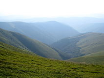 Carpathian mountains, the West of Ukraine. Carpathian mountains trek, path of Borzhava ridge Royalty Free Stock Photos