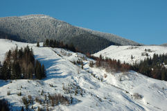 Carpathian mountains in winter. Ukrainian Carpathian mountains in winter stock photography