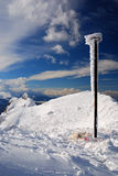 Carpathian Mountains, winter time in Romania Royalty Free Stock Images