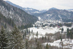 Carpathian Mountains in wintertime. Stock Images