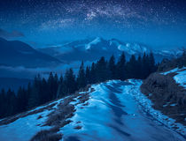 Carpathian nihgt Royalty Free Stock Photography