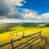 Carpathian's mountain village hills Stock Photography