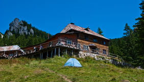 Carpathian shelter Royalty Free Stock Photos