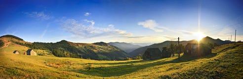 Carpathian solnedgång Royaltyfria Foton