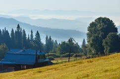 Carpathian sommarbergsikt, Ukraina Fotografering för Bildbyråer