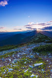 Carpathian sunset Royalty Free Stock Image
