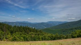 Carpathian timelapse, foto som tas i Beskid berg stock video