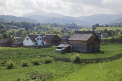 Carpathian village Royalty Free Stock Photography