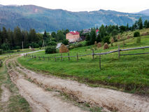 Carpathian village in Ukraine Royalty Free Stock Photography