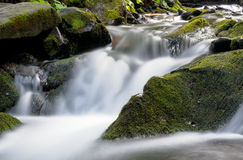 The Carpathian Waterfall Shypit. The Carpathian Mountains with Shypit waterfall landscape view in the Ukrainian part of mountains Royalty Free Stock Image