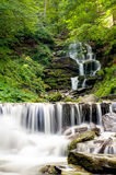The Carpathian Waterfall Shypit. The Carpathian Mountains with Shypit waterfall landscape view in the Ukrainian part of mountains Stock Photos