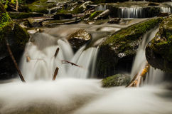 The Carpathian Waterfall Shypit. The Carpathian Mountains with Shypit waterfall landscape view in the Ukrainian part of mountains Stock Images